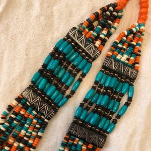 Tribal inspired beaded necklace